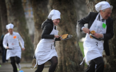 Parliamentary Pancake Race