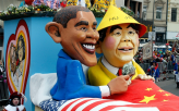 United States and China Carnival Float