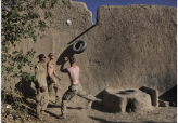 Marines Playing Basketball in Afghanistan