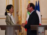 Aung San Suu Kyi reçue à l'Elysée