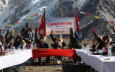 Nepal Cabinet Meets at Everest Base Camp