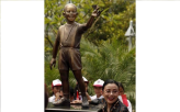 Child Obama Statue in Indonesia