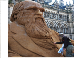 Charles Darwin in Sand